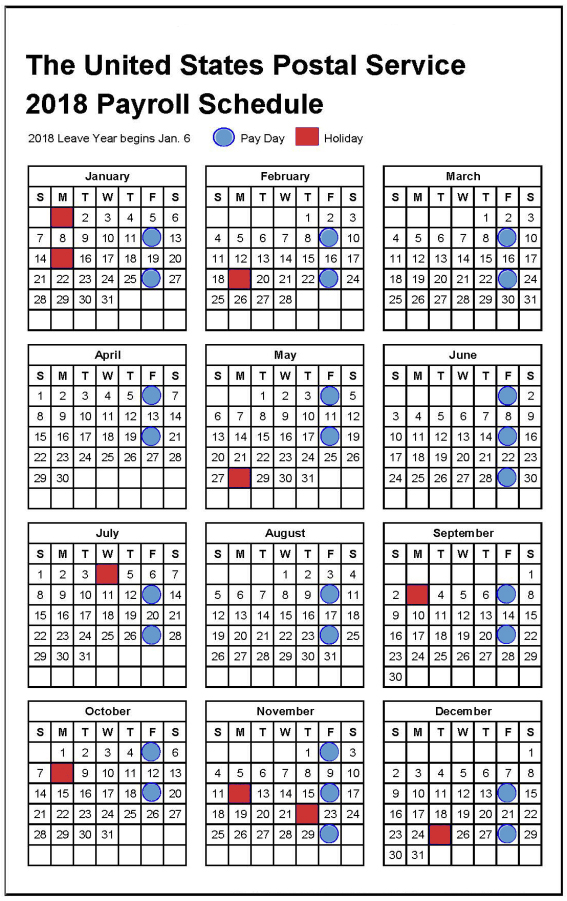 2019 Pay & Leave Calendar